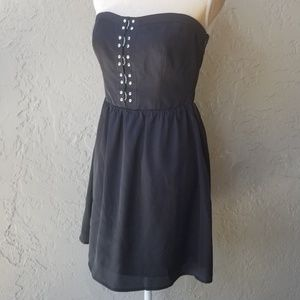 Laundry by Design Black Strapless Cocktail Dress